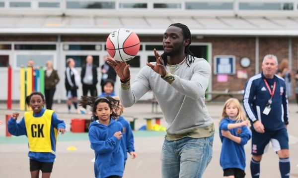 Kenwyne Jones Community school visit