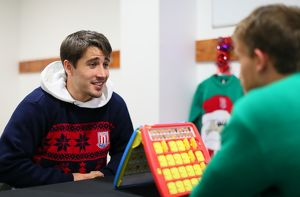 Guess who with Bojan and Marc Muniesa