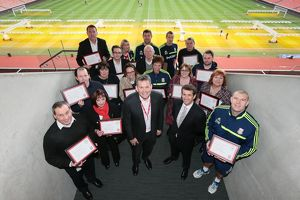Long Service awards at the Britannia Stadium for SCFC STAFF