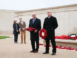 Peter Coates and Mark Hughes at the National Memorial Arboretum