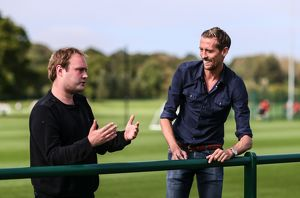 Peter Crouch talks to Soccer am