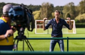 Peter Crouch talks to Tubes from Sky's Soccer am