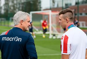 Stoke City Football Club - Olympic Gold Medalist Joe Clarke meets Stoke City Players staff